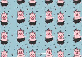 Padrão de vetor de pequenas bolinhas de porcos