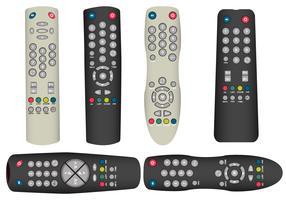 Vetores remotos da TV realista
