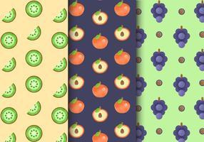 Padrões de frutas sem costura grátis vetor