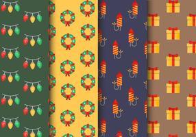 Padrões de Natal sem costura grátis vetor