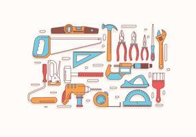 Vetor do Vol 2 de Bricolage Tools