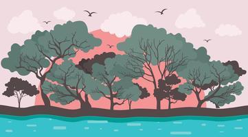 vetor de árvore de goma