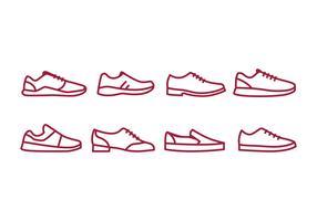 Pacote de ícones de sapatos vetor
