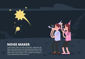 Noise Maker Party Time Vector