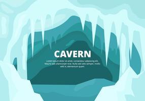 Ilustração da caverna vetor