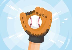 Ilustração da luva de softball vetor