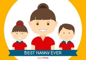 Melhor Nanny no mundo Ilustração vetor