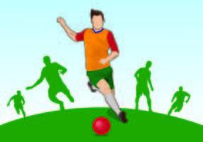 Ilustração de jogadores de Kickball vetor