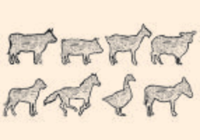 Litografia da forma animal vetor