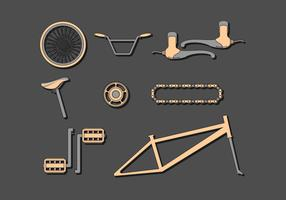 Vector de componentes de bicicletas grátis