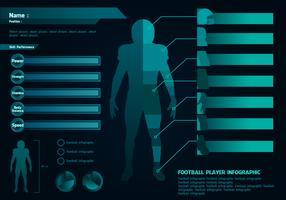 Jogador de futebol infográfico livre de vetores