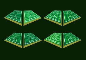 vetorial livre de perspectiva do terreno do futebol vetor
