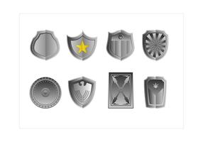 vetor de escudo de estilo gradiente livre