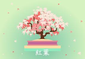 vector japonês de bonsai de maple japonês