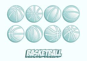 Vector de textura de basquete gratuito