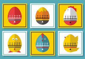 Design do vetor do temporizador de ovos