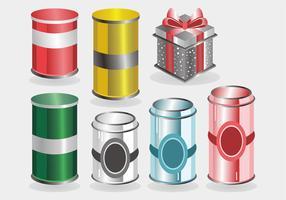 Pacote de vetores de caixa de lata
