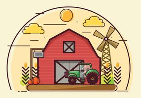 Projeto de vetor de fazenda e celeiro
