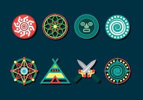 Conjunto de ícones de xamã vetor