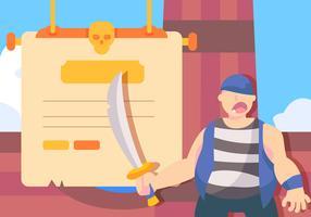 Pirata e espada vetor