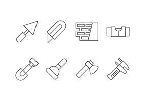 Ícone de conjunto de ferramentas feitas a mão, DIY e Bricolage vetor