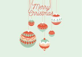 Ilustração de saudação de Natal vetor