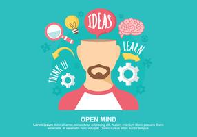 Ilustração do vetor da mente aberta