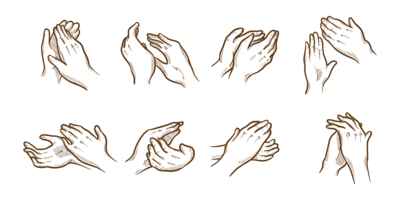 Hand Drawn Hands aplaudindo