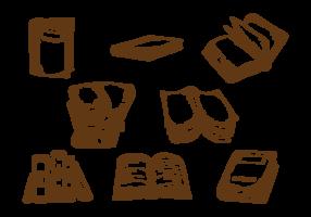 Libro desenhado a mão vetor