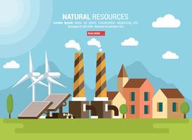 Ilustração vetorial dos recursos naturais vetor