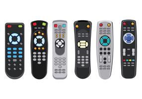 Controle de TV remoto isolado no fundo branco vetor