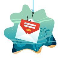 ilustração de phishing vetor