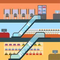 vetor de shopping center plano