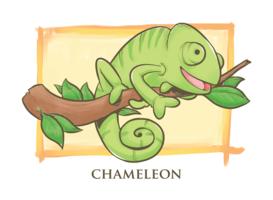 Ilustração dos desenhos animados camaleão vetor