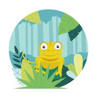 Vector camaleão dos desenhos animados