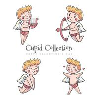 Cute Cupid Character collection vetor