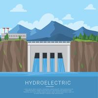Recursos naturais hidroelétricos Free Vectpr vetor