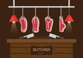 Ilustração do vetor da carne de vitela