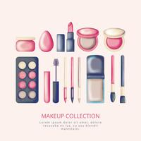 Coleção de maquiagem desenhada mão Vector