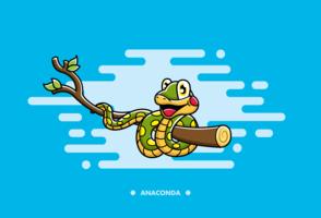 Desenho Animado de Cartoon Anaconda Grátis vetor