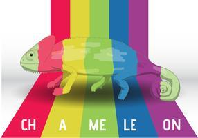 Camaleão nas cores vetor