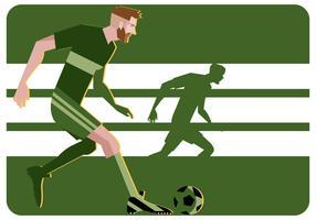 Vector de ilustração do jogo de futebol