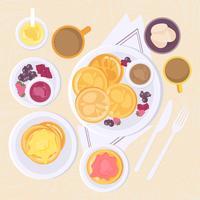 Ilustração vetorial do café da manhã vetor