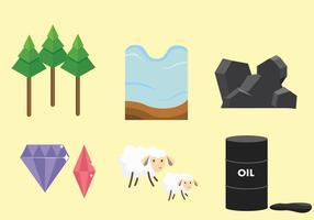 Pacote de vetores de recursos naturais
