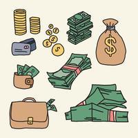 Dinheiro de amostra super colorido vetor