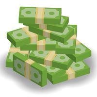 Ilustração vetorial do exemplo de dinheiro vetor