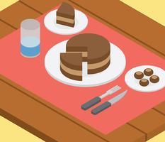 Ilustração do bolo de Buckeye vetor