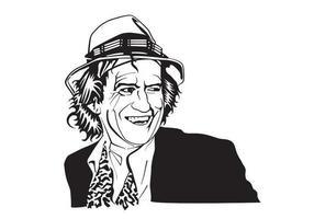 Retrato de vetor Keith Richards