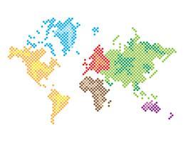 Mapa Global vetor