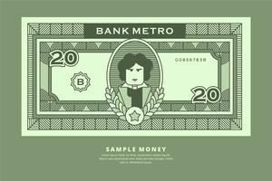 Exemplo de Ilustração do Dinheiro vetor